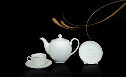 Hình ảnh của Bộ trà 0.8 L - Camellia - Chỉ Vàng