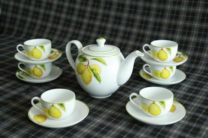 Hình ảnh của Bộ trà 1.1 L (Bộ 6 tách/dĩa) - Camellia - Quả Chanh