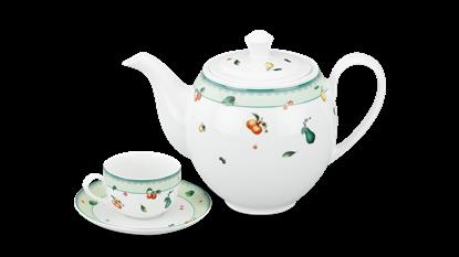 Hình ảnh của Bộ trà 1.1 L (Bộ 6 tách/đĩa) - Camellia - Quả Ngọt