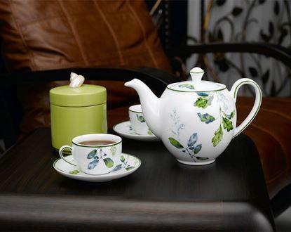 Hình ảnh của Bộ trà 1.1 L (Bộ 6 tách/đĩa) - Camellia - Lá Xanh