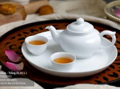 Hình ảnh của Bộ trà 0.35 L - Jasmine - Trắng