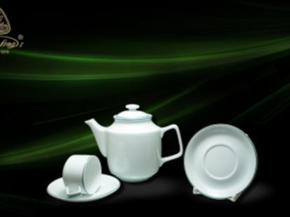 Hình ảnh của Bộ trà 0.7 L - Jasmine - Chỉ Xanh Lá