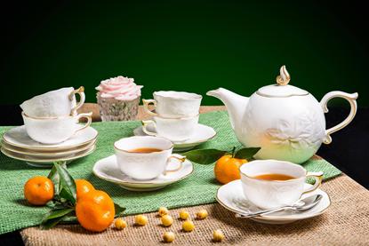 Hình ảnh của Bộ trà 0.7 L - Sen IFP - Chỉ Vàng Kim
