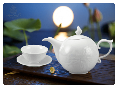 Hình ảnh của Bộ trà 0.7 L - Sen IFP - Trắng Ngà
