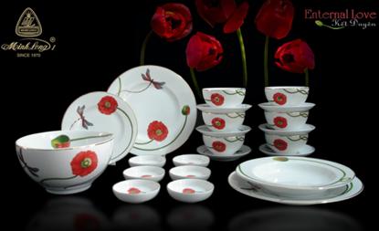 Hình ảnh của Bộ đồ ăn 10 người 48 sp - Camellia - Kết Duyên