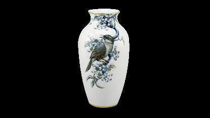 Hình ảnh của Bình hoa 27 cm - Họa Mi & Hoa Bưởi - Cobalt Vàng