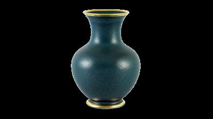 Hình ảnh của Bình hoa hỏa biến 22 cm - Ngọc Bích Matte Chỉ Vàng