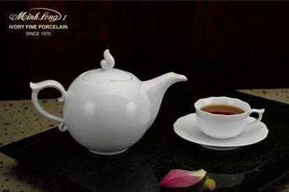 Hình ảnh của Bộ trà 0.7 L - Mẫu Đơn IFP - Trắng Ngà