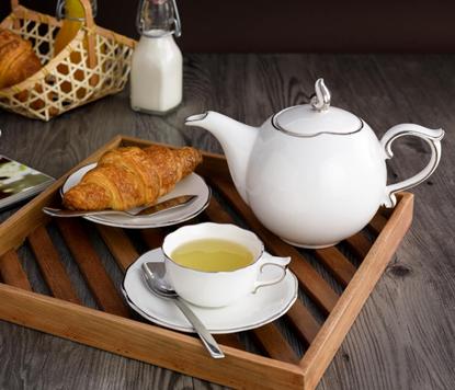 Hình ảnh của Bộ trà 0.7 L - Mẫu Đơn IFP - Chỉ Bạch Kim
