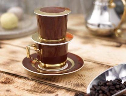 Hình ảnh của BỘ PHIN CAFE CAMELLIA MẠ VÀNG